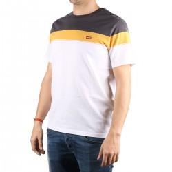 Levis Camiseta The Original Tee Logo Classic Blanco Amarillo Gris Hombre