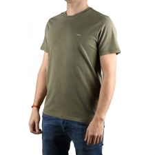 Levis Camiseta The Original Tee GREEN - PATCH OG TEE OLIVE NIGHT Verde Oliva Hombre