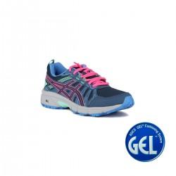 Asics Gel Venture 7 GS Peacoat Hot Pink Azul Rosa Menta Niño