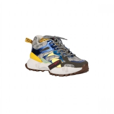EXE Zapatilla Sneaker Reflectant Blue Dark Grey Multicolor Mujer