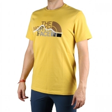 The North Face Camiseta Mountain Line Bamboo Yellow amarillo Hombre