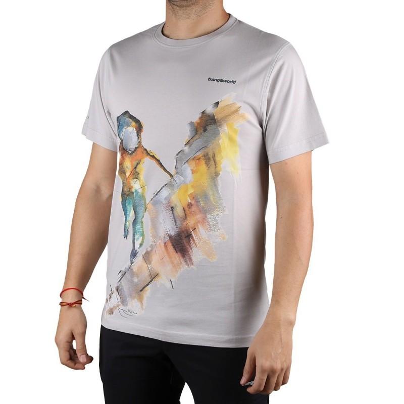 Trangoworld Camiseta Rockclimber Gris Vapor Hombre