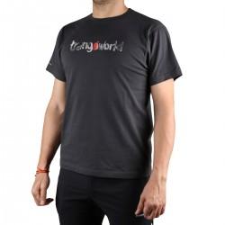 Trangoworld Camiseta Watercolour Gris Oscuro Hombre