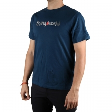 Trangoworld Camiseta Watercolour Blanco Hombre