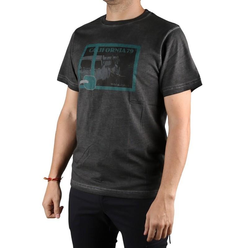 Trangoworld Camiseta Ornia Negro Hombre