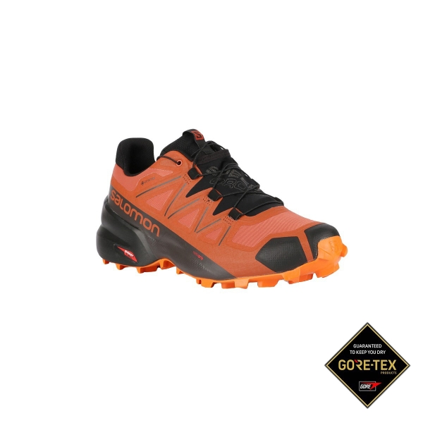 Salomon Zapatilla Speedcross 5 GTX Burnt Brick Black Exuberance Naranja  Hombre