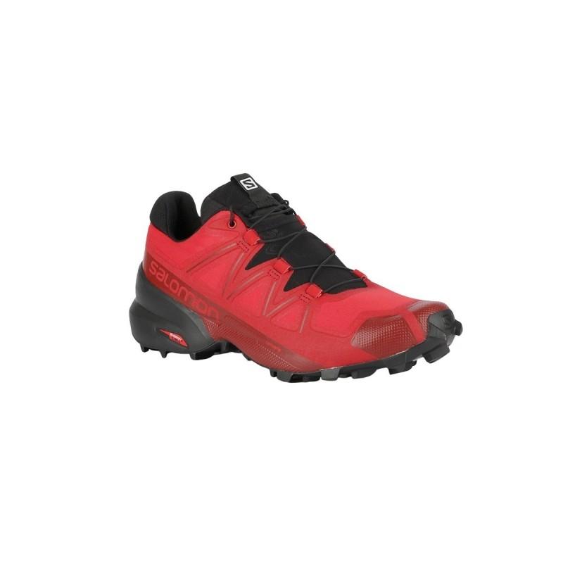 Salomon Zapatilla Speedcross 5 Barbados Cherry Black Red Dahlia Granate Hombre