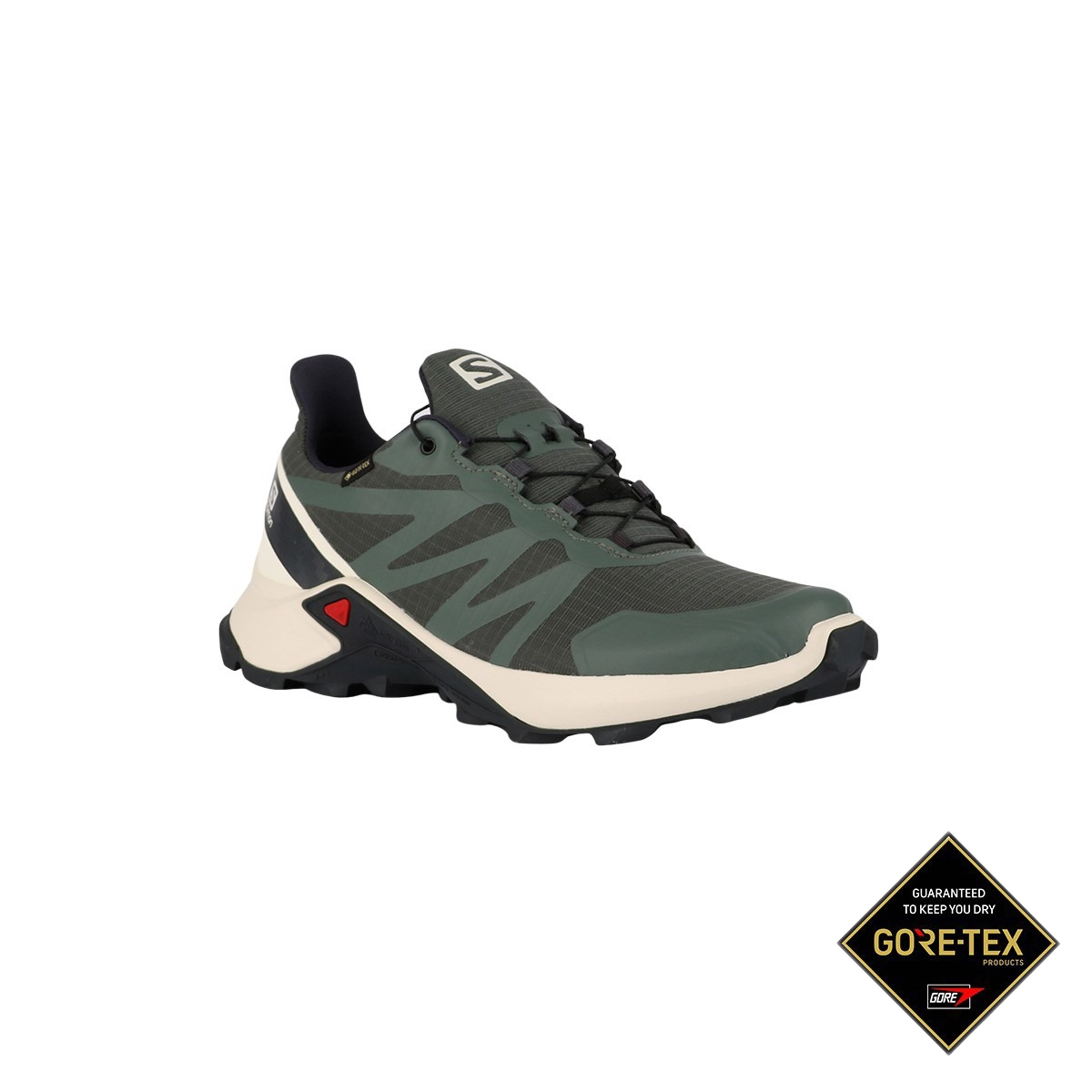Salomon Zapatilla Supercross GTX Balsam Green Vanilla Ice India Ink Verde Hombre