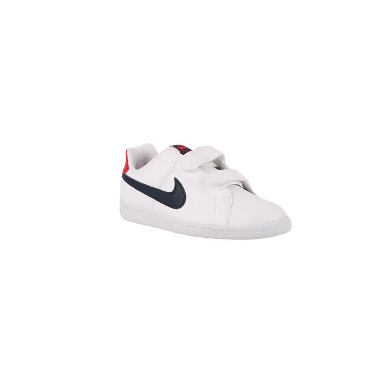 Nike Court Royale PSV White Obsidian University Red Blanco Rojo Azul Niño