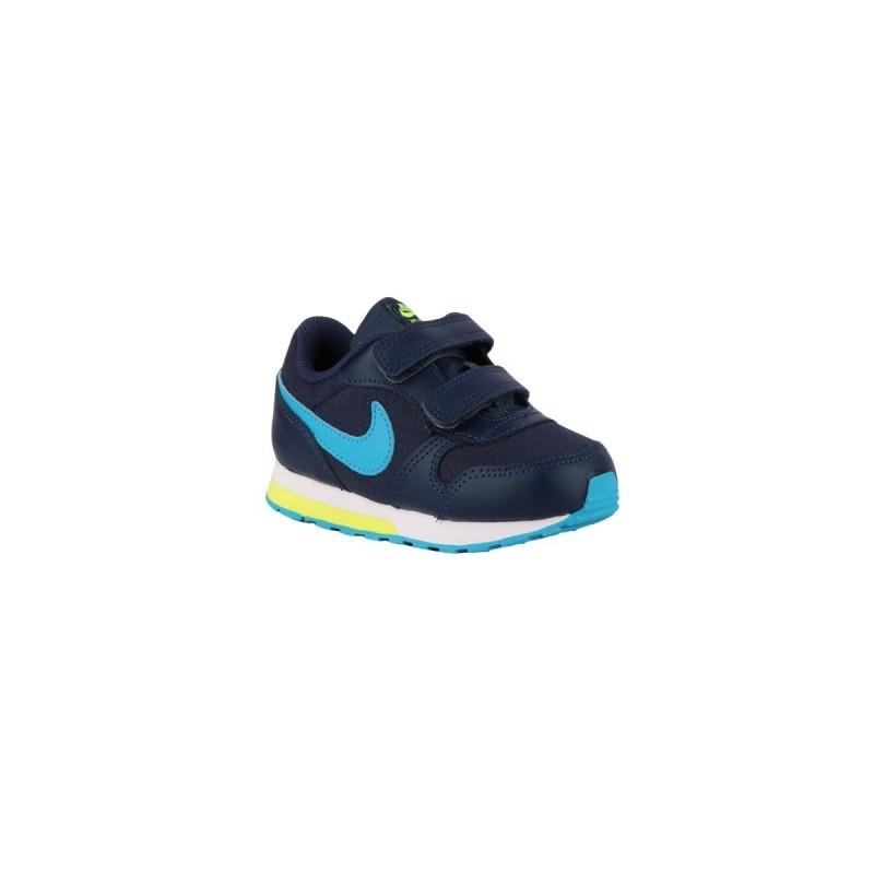 Nike MD Runner 2 TDV Midnight Navy Laser Blue Azul Lima Niño