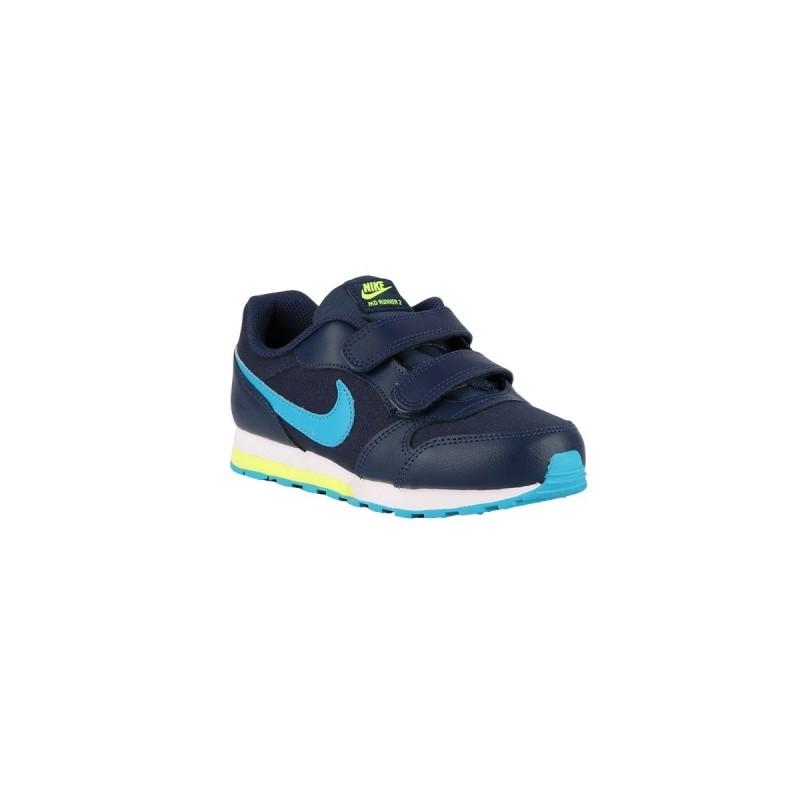 Nike MD Runner 2 PSV Midnight Navy Laser Blue Azul Lima Niño