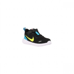 Nike Revolution 5 TDV Black Lemon Laser Blue Azul Lima Azul Niño