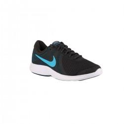 Nike Revolution 4 EU Off Noir LT Current Blue Gris Azul Hombre