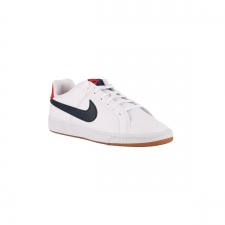 Nike Court Royale GS White Obsidian University Red Blanco Rojo Niño