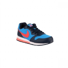 Nike MD Runner 2 GS Photo Blue Bright Crimson Azul Naranja Niño