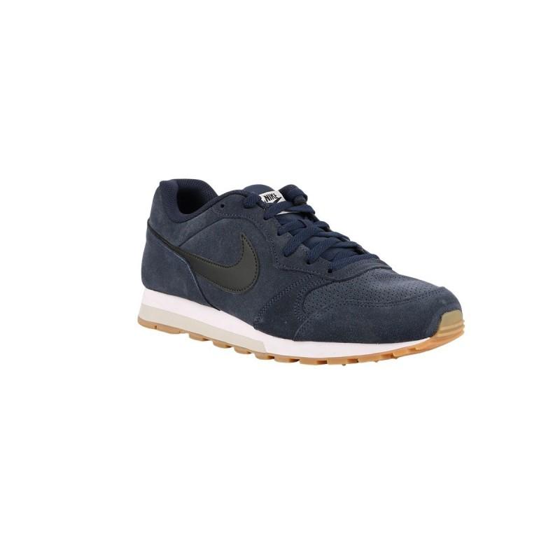 Nike MD Runner 2 Suede Obsidian Black Light Bone Azul Marino Hombre
