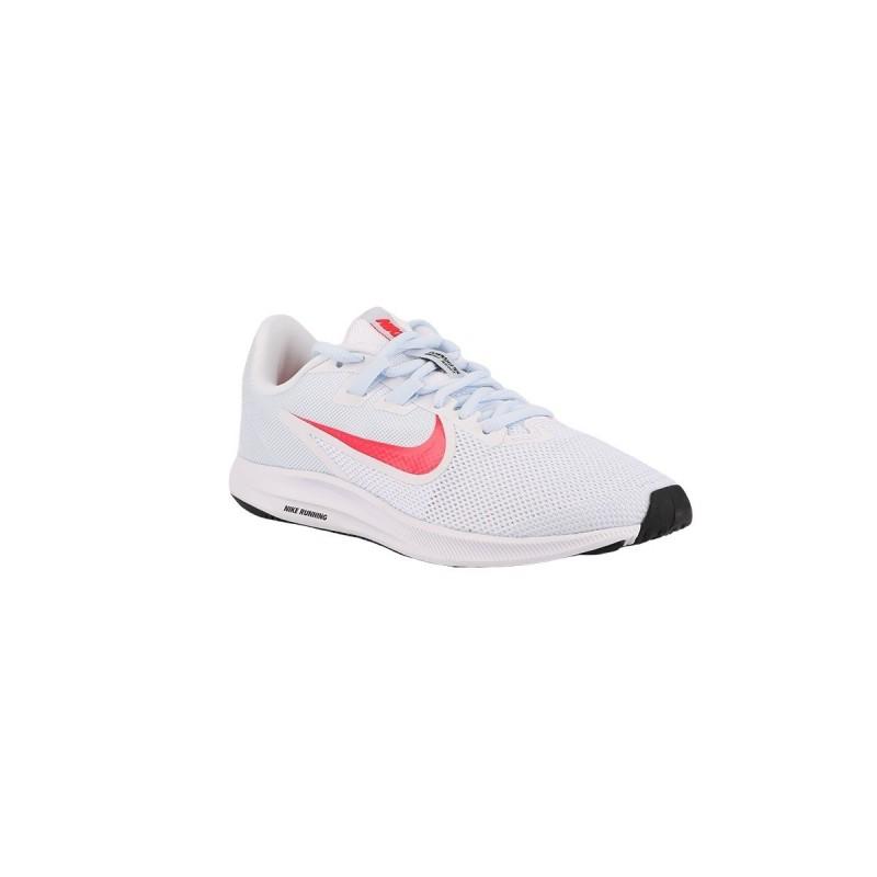 Nike Zapatillas Wmns Downshifter 9 White Red Orbit-Half Blue Blanco Rojo Mujer