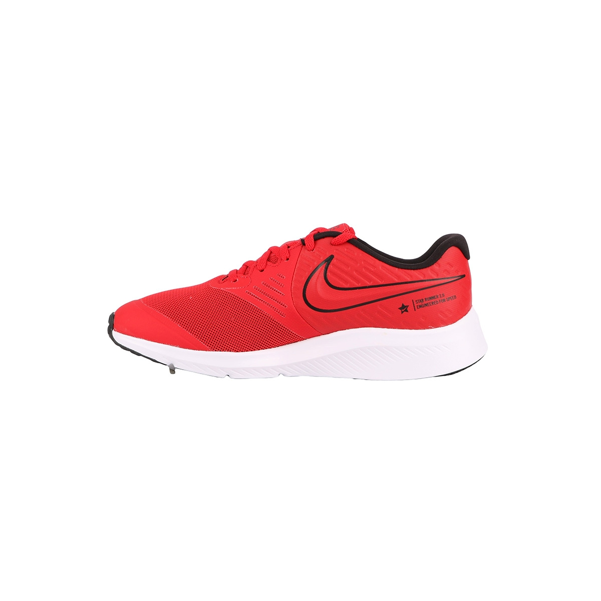 Nike Star Runner 2 GS University Red Black Volt Rojo Niño