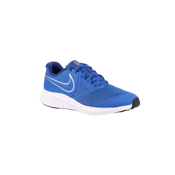 Nike Star Runner 2 GS Game Royal Metallic Silver Azul Niño