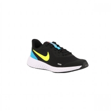 Nike Revolution 5 GS Black Lemon Laser Blue Azul Lima Azul Niño