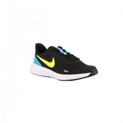 Nike Revolution 5 GS Black Lemon Laser Blue Azul Lima Azul Niño