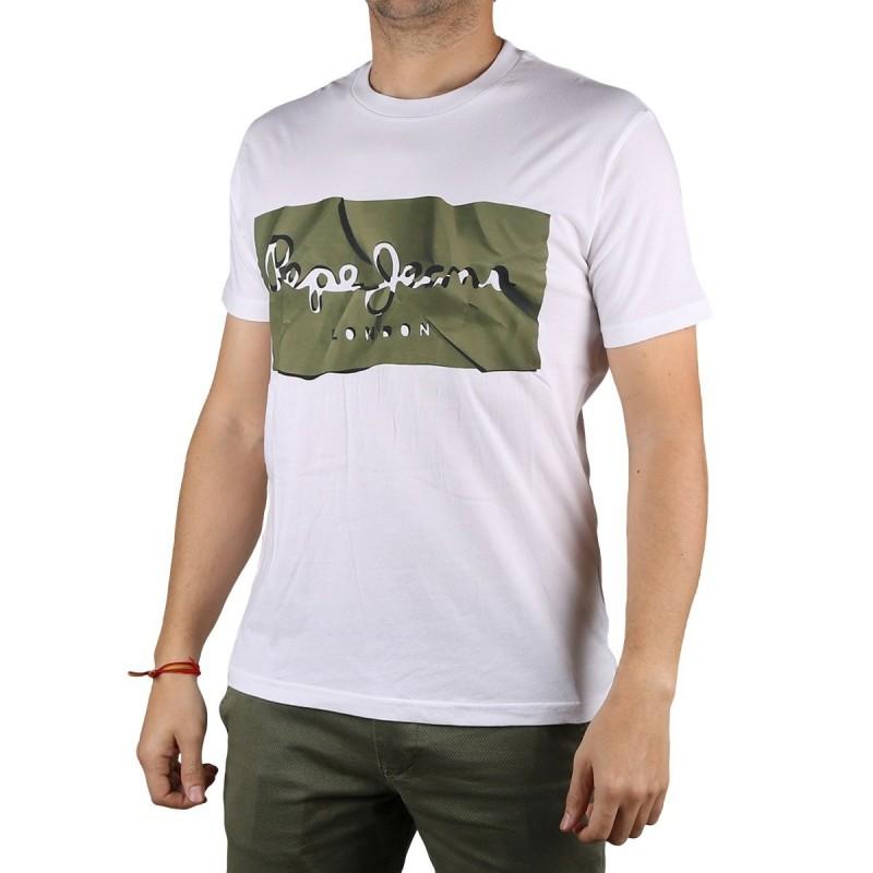 Pepe Jeans Camiseta Raury Safari Blanco Hombre