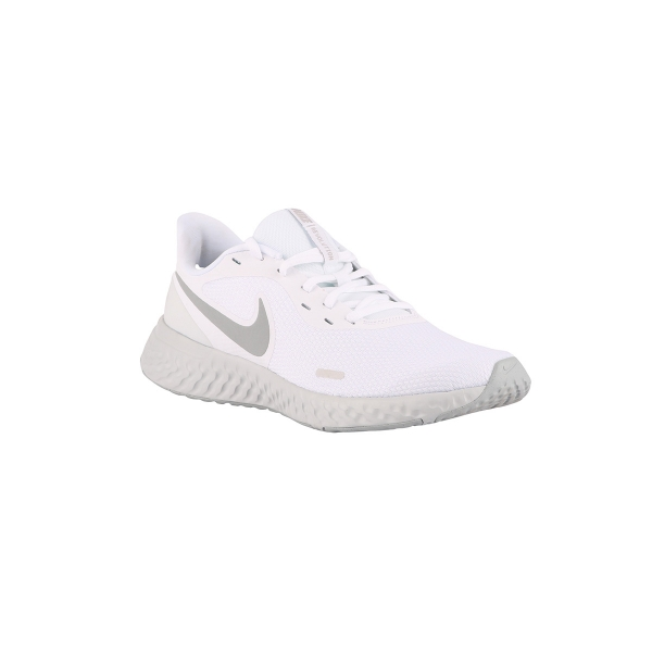 Nike Revolution 5 White Wolf Grey Blanco Hombre