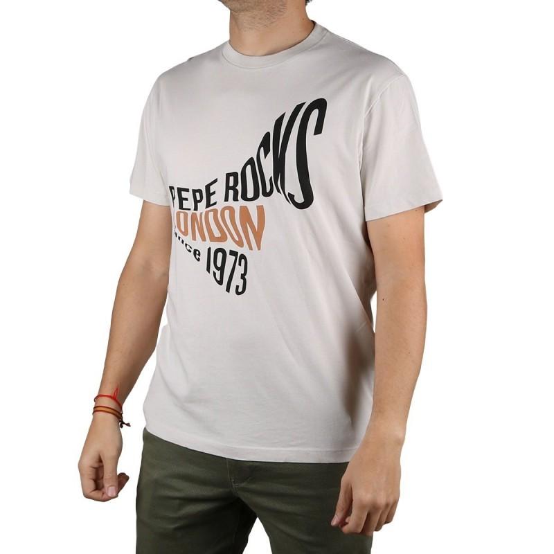 Pepe Jeans Camiseta Berwick Chalk Blanco Hombre