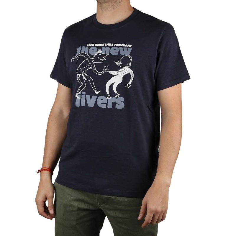 Pepe Jeans Camiseta Brent Chatman Blue Azul Marino Hombre