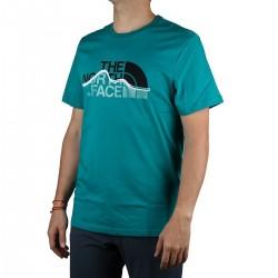 The North Face Camiseta Mountain Line Fangare Green Hombre