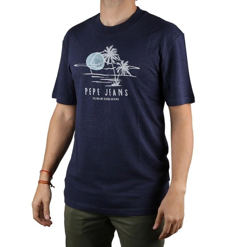 Pepe Jeans Camiseta Elias Old Navy Azul Marino Hombre