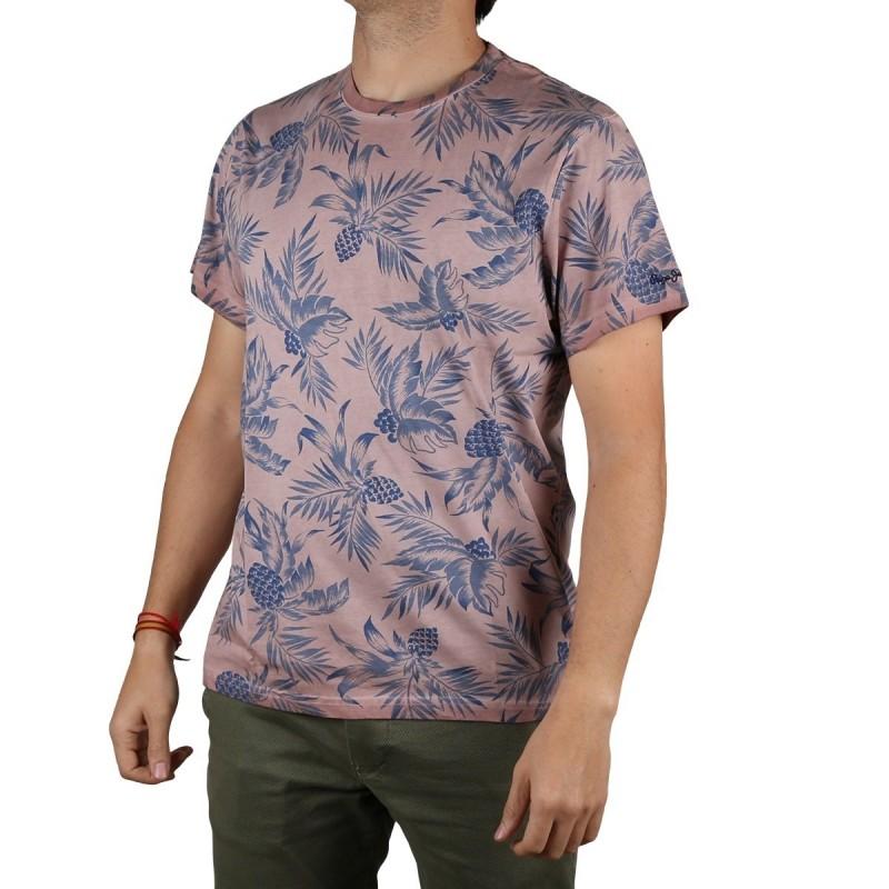 Pepe Jeans Camiseta Emerson Claret Rosa Hombre