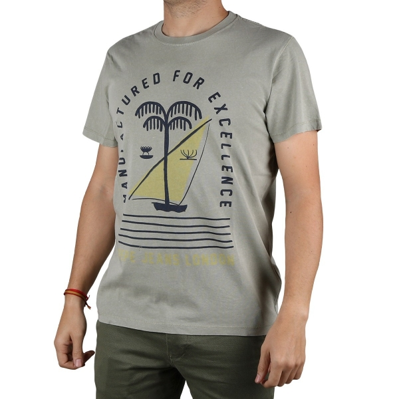 Pepe Jeans Camiseta Jonah Light Thames Tierra Hombre