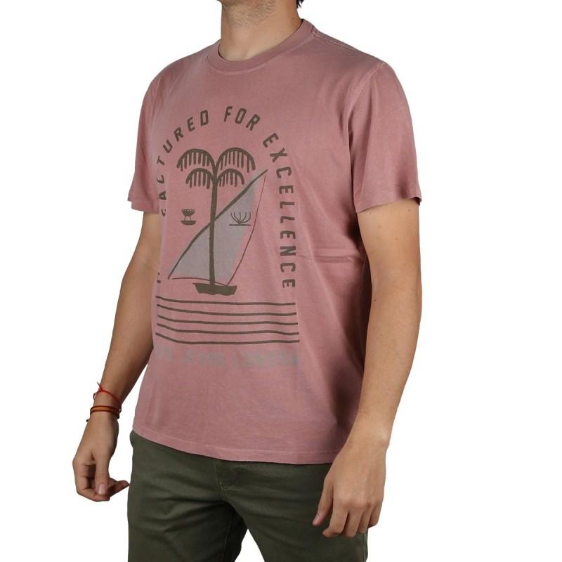 Pepe Jeans Camiseta Jonah Claret Rosa Hombre