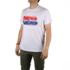 Pepe Jeans Camiseta Milburn Optic White Blanco Hombre