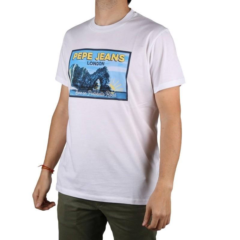 Pepe Jeans Camiseta Miles Optic White Blanco Hombre