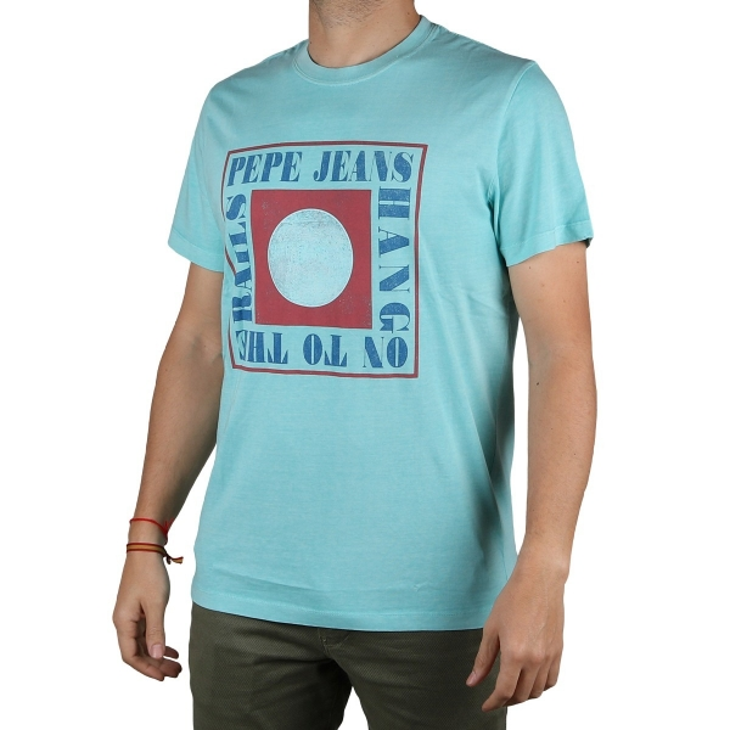 Pepe Jeans Camiseta Morris Dk Acqua Aguamarina Hombre