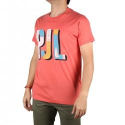 Pepe Jeans Camiseta Sampson PJL Dark Coral Hombre