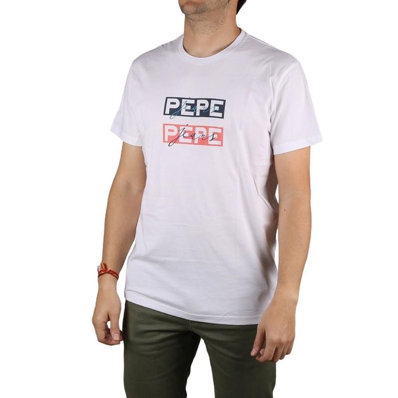 Pepe Jeans Camiseta Sid Optic White Blanco Hombre