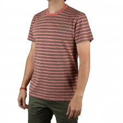Pepe Jeans Camiseta Bruce Premium Sundown Rayas Salmon Hombre