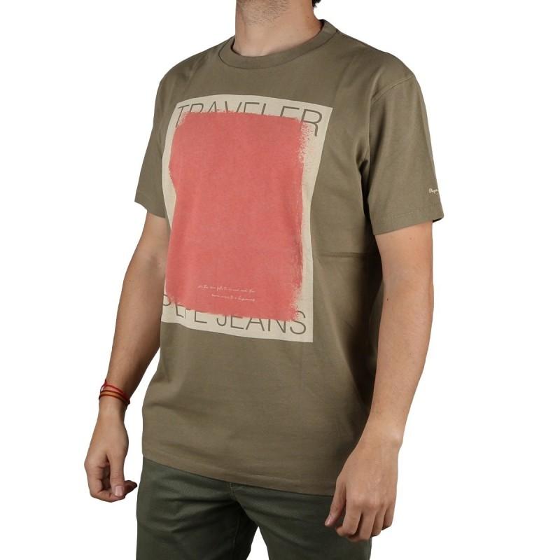 Pepe Jeans Camiseta Philipe Thyme verde Caqui Hombre