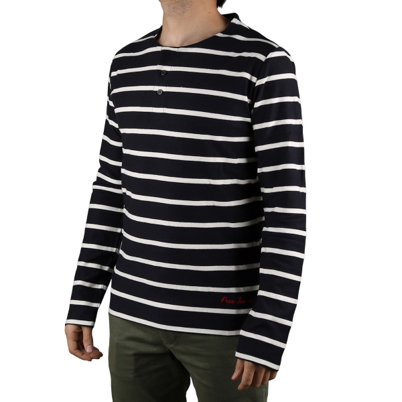 Pepe Jeans Camiseta Darek Deep Sea Rayas Marineras Azul Marino Hombre