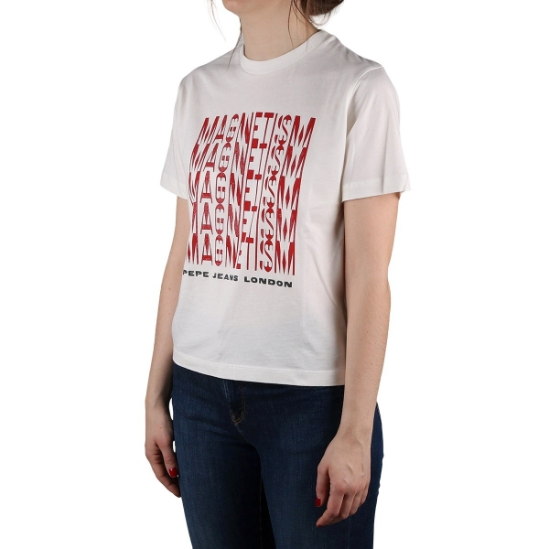 Pepe Jeans Camiseta Cassandra Mousse Blanco Mujer