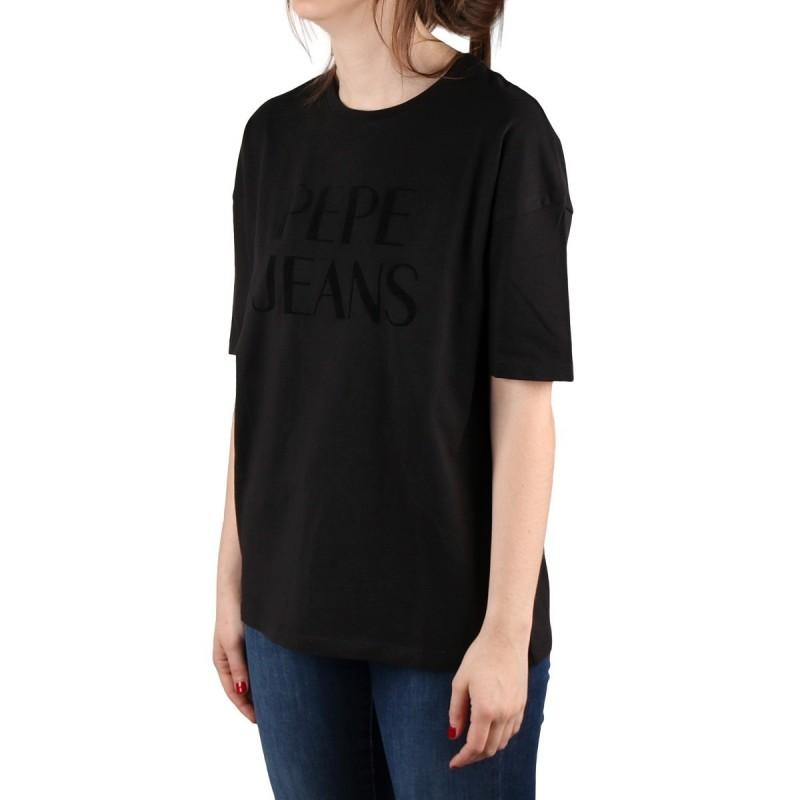 Pepe Jeans Camiseta Cherie Black Negro Mujer