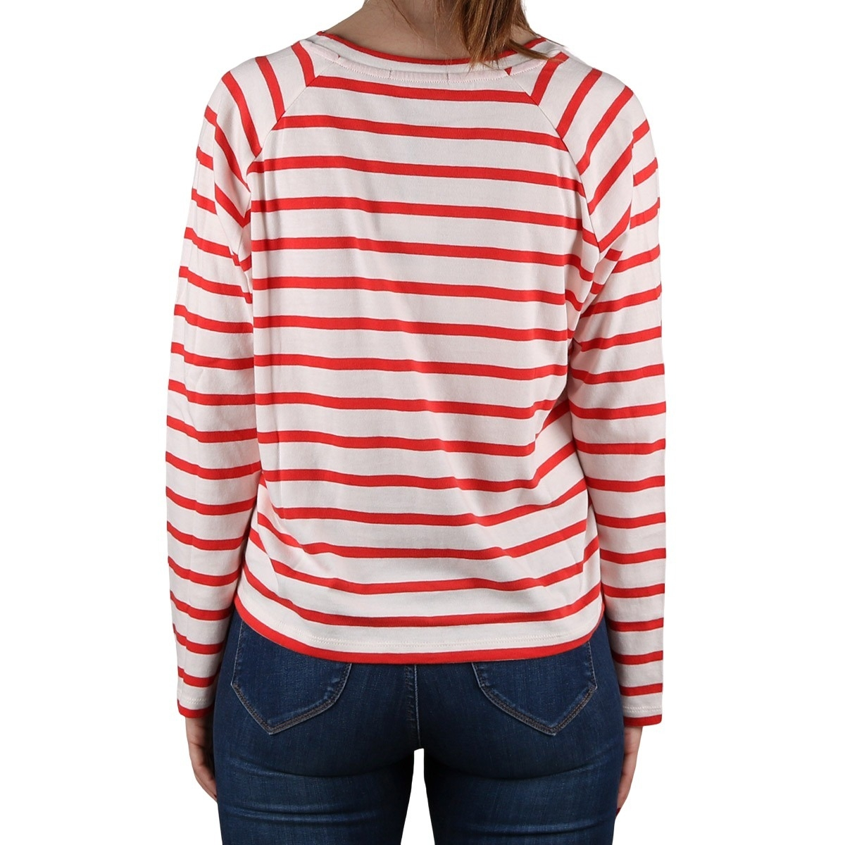 Pepe Jeans Camiseta Evelyn Strawberry Rayas Rojo Mujer