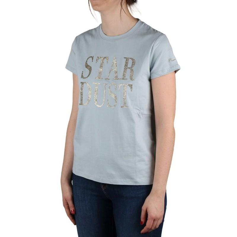 Pepe Jeans Camiseta Lacey Sky Azul Cielo Purpurina Mujer