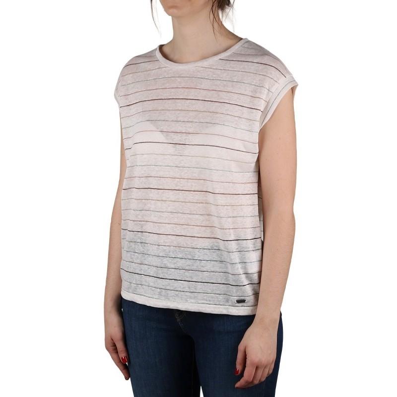Pepe Jeans Camiseta Lorena Multicolor Rayas Lino Mujer