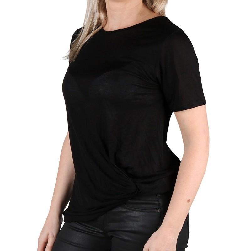 Pepe Jeans Camiseta Coco Black Negro Nudo Mujer