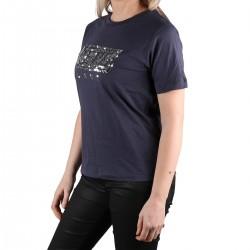 Pepe Jeans Camiseta Charis Old Navy Azul Marino Lentejuelas Mujer