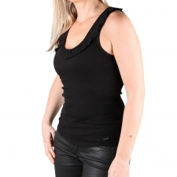 Pepe Jeans Camiseta tirantes Diane Balck Volante Negro Mujer